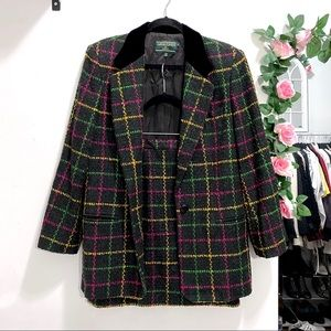Vintage Plaid blazer and skirt set - J. McLaughlin